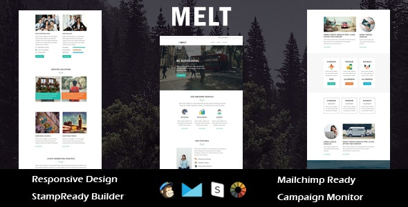 Melt - Multipurpose Responsive Email Template + Stampready Builder - Email Templates Marketing