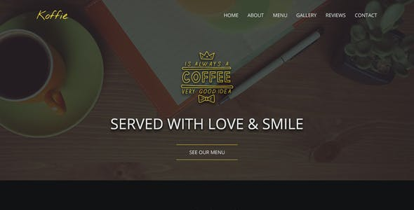 Koffie   Coffee Shop HTML Landing Page