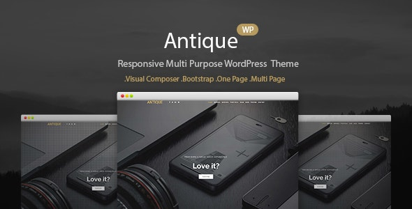 One Page Agency Portfolio WordPress Theme - Antique - Portfolio Creative
