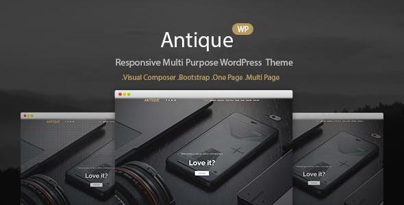 Antique - Onepage Portfolio Theme WordPress Theme