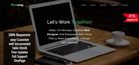 Persway - Responsive Personal Template - Personal Site Templates