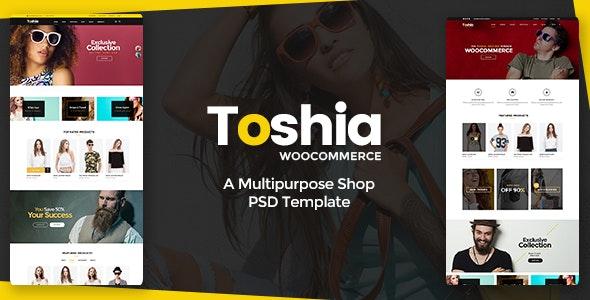 Toshia Woo-Commerce - Multipurpose Shop PSD Template - Shopping Retail
