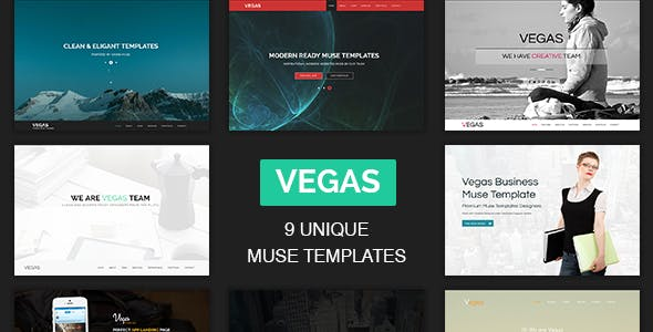 Vegas - Multipurpose One Page Muse Templates