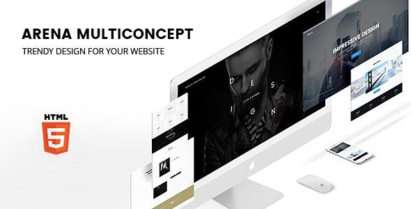 ARENA — Multiconcept HTML5 Template - Creative Site Templates