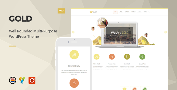 Gold - Responsive Business WordPress Theme - Business Corporate