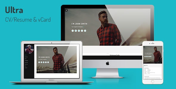 Ultra - Personal CV/Resume & vCard Template - Resume / CV Specialty Pages