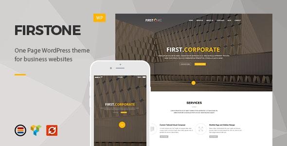 FirstOne – Responsive OnePage WordPress Theme - Business Corporate