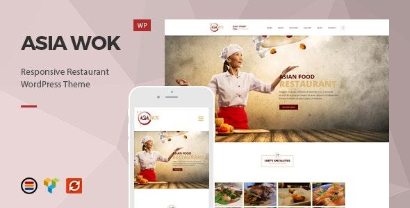 Asia Wok – Responsive Restaurant WordPress Theme - Restaurants & Cafes Entertainment
