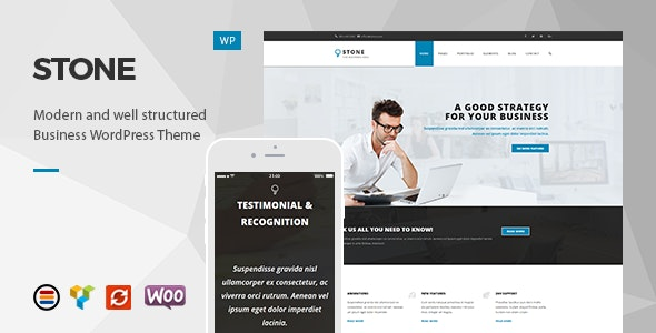 Stone - Responsive Business WordPress Theme - Business Corporate