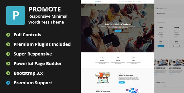 Personal Marketing WordPress Theme - Promote - Marketing Corporate
