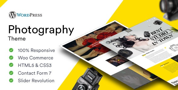 Photography - Photoshoot and Videography Responsive WordPress Theme - Photography Creative