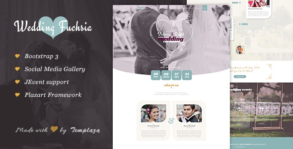 Fuchsia - Joomla Wedding Template - Wedding Joomla