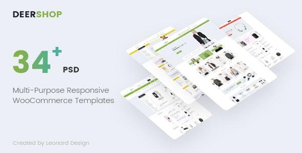 DeerShop | Multi-Purpose Responsive Ecommerce PSD Template - Retail Photoshop