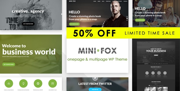 Minifox - Responsive Multi-Purpose WordPress Theme - Corporate WordPress