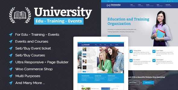 University - Education, Event and Course HTML Template - Corporate Site Templates