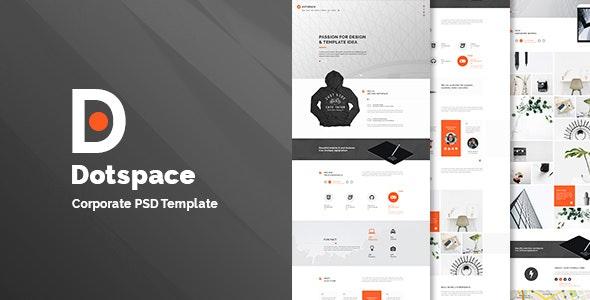 Dotspace - Corporate PSD Template - Corporate Photoshop