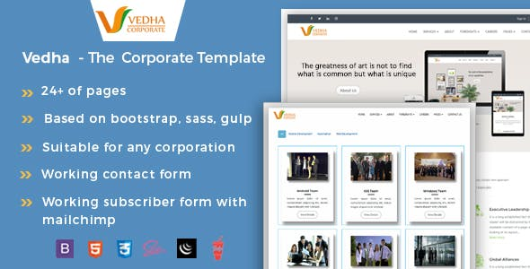 Vedha - Corporate HTML template