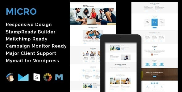 MICRO - Multipurpose Responsive Email Template - Email Templates Marketing