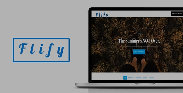 Flify Store | Responsive eCommerce Shop Template - Shopping Retail
