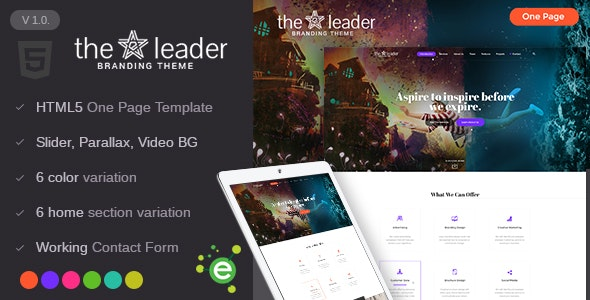 The Leader - Creative Business HTML Template - Business Corporate