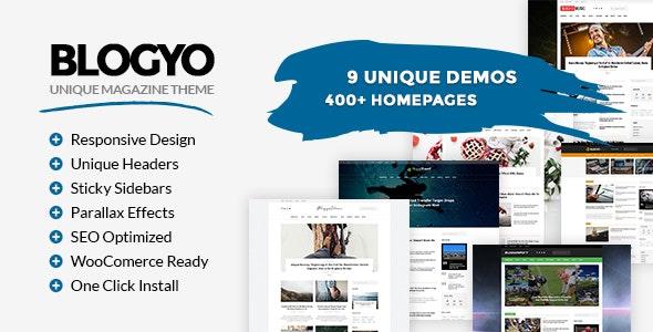 Blogyo - Multipurpose Magazine Theme - News / Editorial Blog / Magazine