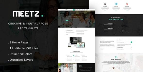 MEETZ - Creative and Multipurpose PSD Template - Photoshop UI Templates