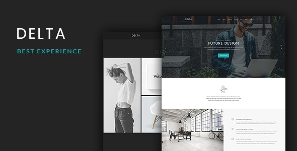 Delta - Onepage PSD Template - Creative Photoshop