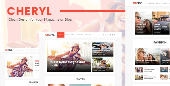 Cheryl - Responsive Design WordPress Magazine & Blog Theme - News / Editorial Blog / Magazine