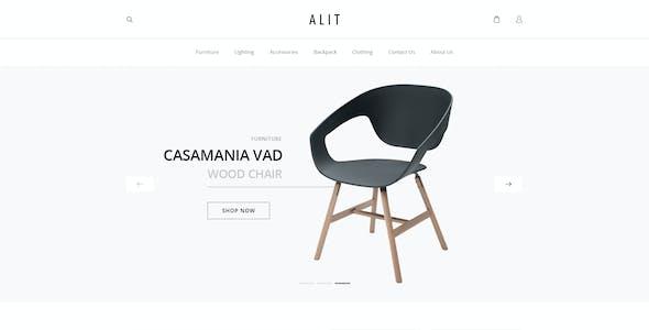 Alit - Minimalist eCommerce PSD Template