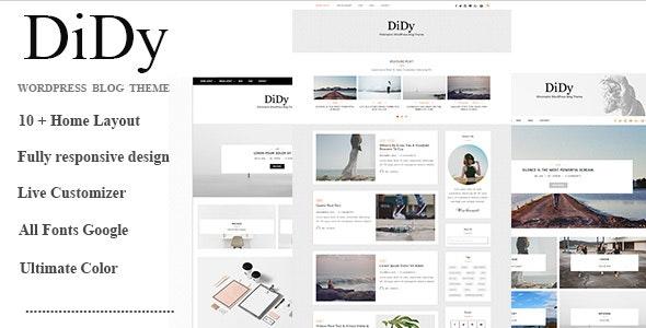 DiDy - Multipurpose Responsive WordPress Blog Theme - Personal Blog / Magazine