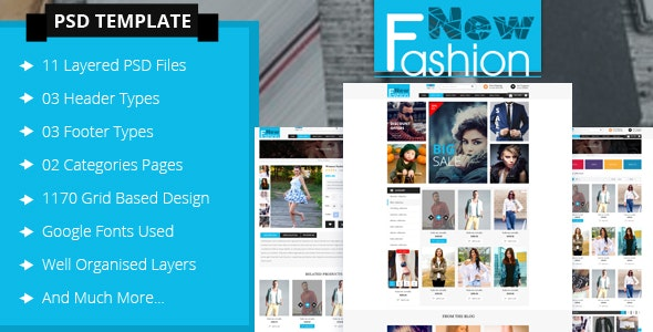 Fashion eCommerce PSD Template - Retail PSD Templates
