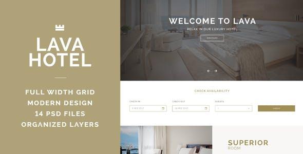 LAVA - Luxury Hotel PSD Template