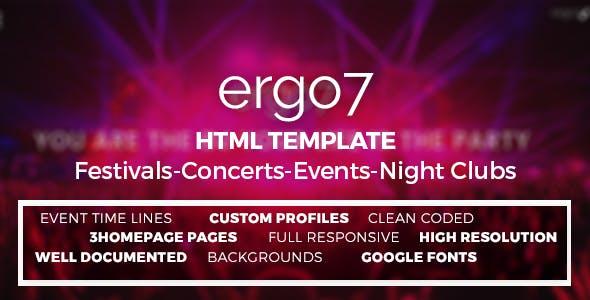 Ergo7 - HTML Template for Events   Parties   Festivals