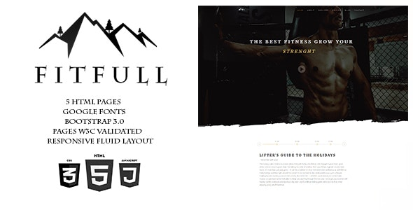 FITFULL-Gym Fitness HTML Template - Health & Beauty Retail