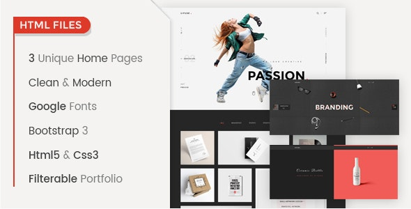 UiFuse - Responsive Portfolio HTML Template - Portfolio Creative