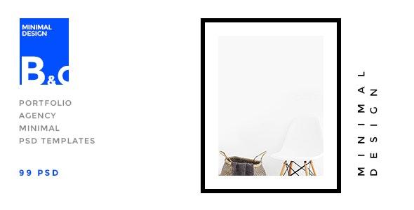 B&C - Portfolio & Agency minimal PSD Template - Portfolio Creative