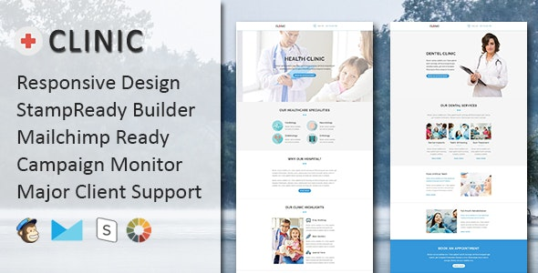 CLINIC - Multipurpose Responsive Email Template with Online StampReady & Mailchimp Builders - Email Templates Marketing