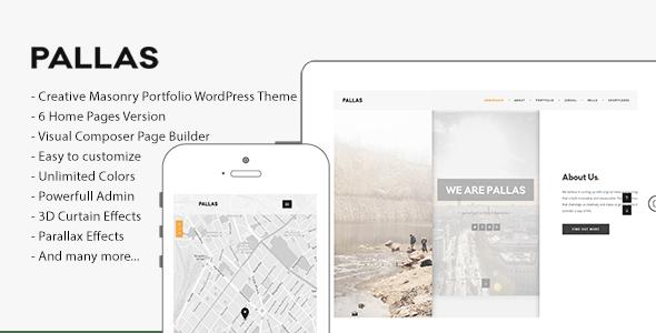 Pallas - Creative Multi-Purpose WordPress Theme