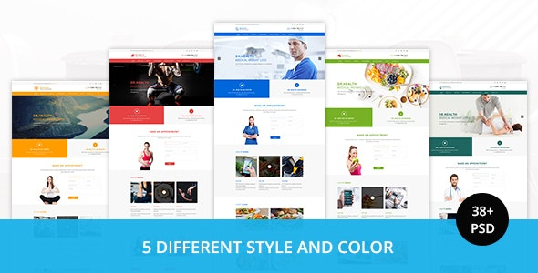 DR.HEALTH - Modern and Creative PSD Template - Corporate Photoshop