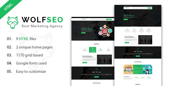 WOLFSEO - Digital Marketing Agency HTML Template - Marketing Corporate