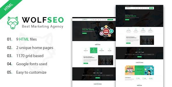 WOLFSEO - Digital Marketing Agency HTML Template