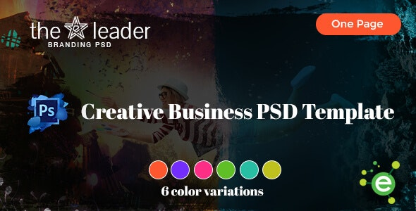 The Leader - Creative Business PSD Template - Business Corporate