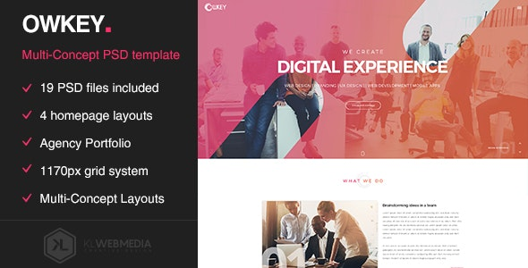 Owkey - Multi-Concept Portfolio PSD template - Portfolio Creative