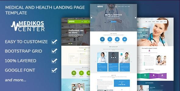 MediKos Center - Medical and Health PSD Landing Template - Health & Beauty Retail