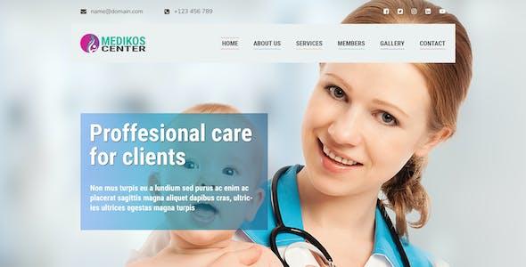 MediKos Center - Medical and Health PSD Landing Template