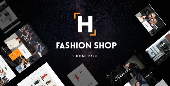 HShop - Fashion Shop PSD Template - Shopping Retail