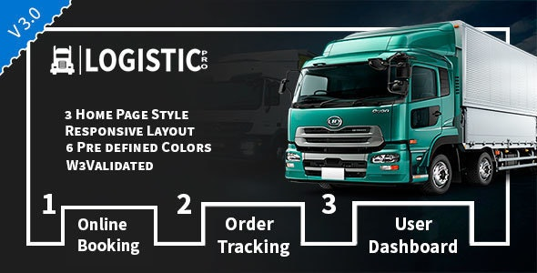 Logistic Pro - Transport - Cargo - Online Tracking - Booking & Logistics Services - Business Corporate