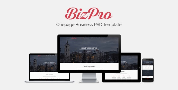 BizPro - Onepage Multipurpose Business PSD Template - Business Corporate