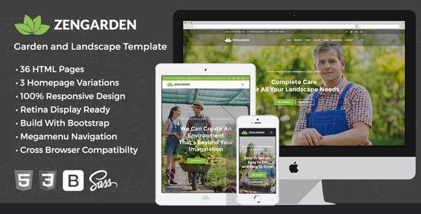 Zen Garden - Garden and Landscape HTML Template - Business Corporate