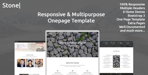 Stone - Responsive Multipurpose One Page Template - Creative Site Templates